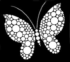 Butterfly stencils from The Stencil Library - Over 3500 stencil designs available to buy direct - Stencils catalogue. Dot Painting Tools, Stone Art Painting, Dot Art Painting, Rock Painting Designs, Painting Patterns, Mandala Art Lesson, Mandala Drawing, Mandala Painting, Butterfly Stencil
