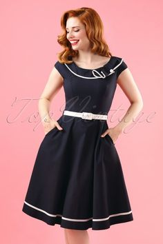 Vixen Blue Sailor Semi Swing Dress 102 30 17957 model01W