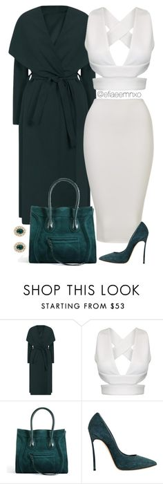 """""""White x Teal"""" by efiaeemnxo ❤ liked on Polyvore featuring Casadei and Givenchy"""