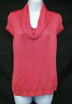 Apt. 9 NEW Pink Coral Cowl Neck 100% Cashmere Sweater Ladies M ...