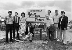 Groundbreaking of Home Run Inn's second pizzeria in Darien, IL – circa 1986