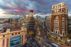 Madrid at sunset by Carlos Luque