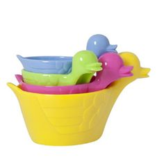 Measuring ducks (cups/spoons)  - yellow mix - Rice DK