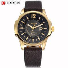 2017 CURREN Mens Watches Top Brand Luxury Military Wrist Watch Men Sport Clock Male Leather Strap Quartz Watch relogio masculino
