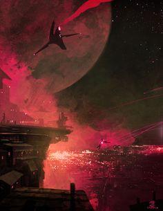 wow, I love sci-fi landscapes!