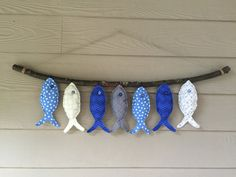 Fish On by on Etsy - Fabric Crafts To Sell Fish Crafts, Beach Crafts, Diy And Crafts, Crafts For Kids, Arts And Crafts, Sewing Hacks, Sewing Crafts, Sewing Projects, Art Projects