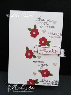 Stampin' Up! Endless Thanks by Melissa Davies @rubberfunatics #rubberfunatics #stampinup