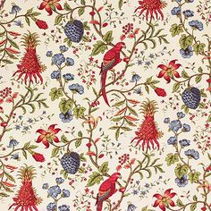 Enchanting old rose vegetable home fabric by G P