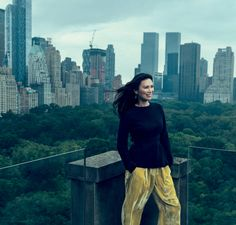 Wendi Murdoch, photographed at her Upper East Side home. Proenza Schouler sweater. Céline pants.