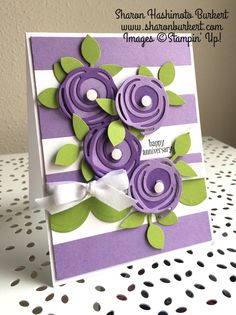 Highland Heather, Gorgeous Grape and Granny Apple Grape, lovely new Stampin' Up! colors.