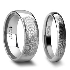 Eusebeia Custom Fingerprint Engraved Tungsten Couple& Matching Wedding Band Set is available today with two day shipping and a lifetime warranty. Tungsten Wedding Rings, Silver Wedding Rings, Diamond Wedding Bands, Gold Wedding, Wedding Jewelry, Wedding Reception, Matching Wedding Band Sets, Wedding Matches, Grave