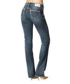 This Medium Indigo Suki Bootcut Jeans - Women by Silver Jeans Co. is perfect! #zulilyfinds