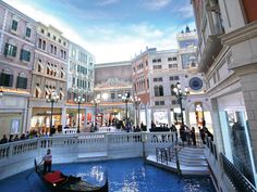 Grand Canal at Venetian Macao-Resort-Hotel Las Vegas Shopping, Places Ive Been, Places To Visit, Grand Canal, Macau, Hotels And Resorts, Wonderful Places, World, City