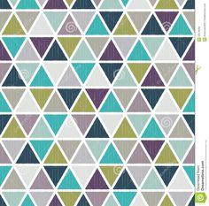 Seamless Retro Geometric Triangle Tiles Wallpaper Stock Vector ...