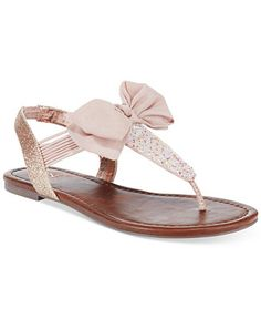Material Girl Swan Flat Thong Sandals, Only at Macy's - All Women's Shoes - Shoes - Macy's