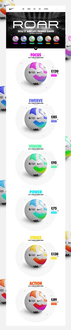 So here you go… Nike ROAR®. The official footballs for the 2016/17 Premier League season.I WISH!!!Being a huge football fan and seeming Nike have just released their new range of footballs for the 2016/17 season, I thought it would be a cool and exc…