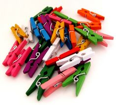 SUPER DEAL 200 pcs Mini Clothespin by sugarcottonstudio on Etsy, $29.00