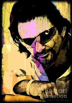 Pop Art painting of Bono by David Lloyd Glover