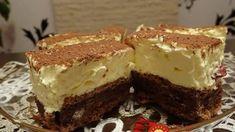 Vaníliás szelet aminek már a látványa is fenséges! Hungarian Recipes, Cake Cookies, Sweet Recipes, Cookie Recipes, Deserts, Food Porn, Food And Drink, Sweets, Snacks