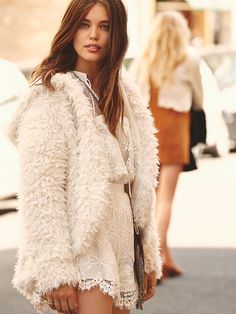 Free People Once Upon A Hood Fluffy Coat at Free People Clothing Boutique