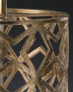 hand-wrought iron table lamp with star design in antique silver leaf finish; table lamps; gorgeous table lamps