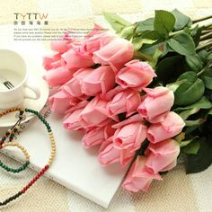 Pink rose flowers bouquet