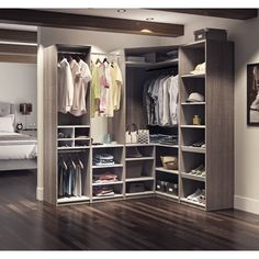 "Classic Corner Walk 75.9"" W Closet System"