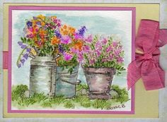 Watercolor Trio by jennie black - Cards and Paper Crafts at Splitcoaststampers--Art Impressions