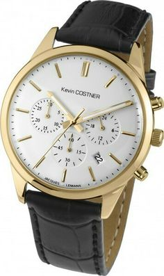 92be228bf8c Jacques Lemans Men s Watch Chronograph by Kevin Costner With IP-Gold  Stainless Steel