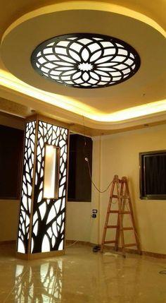 CNC Wood Carving Designs – Architecture & Design - Home Decor House Ceiling Design, Home Ceiling, House Design, Ceiling Lights, Restaurant Design, Design Hotel, Cnc Wood Carving, Wood Carving Designs, Office Light