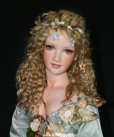 Lorella Falconi, Dollery  - Meadowlark, Goddess of the Meadows, one of a kind, fully poseable.  $5000  SOLD