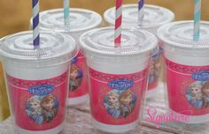 Disney Frozen Party CupsFrozen Birthday by SignatureAvenue on Etsy, $15.40