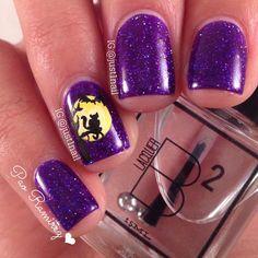 Instagram media just1nail - black cat sillhouette halloween #nail #nails #nailart