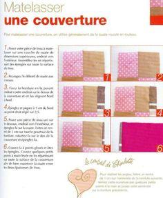 Tuto couture français matelasser une couverture
