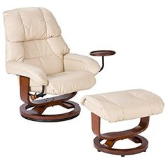 Luxurious Elegant Bonded Leather Recliner Classic Relax Comfort Contemp in Taupe #Doesnotapply #Contemporary