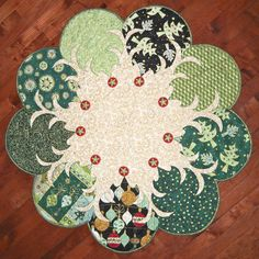 Trees All Around – Quilted Garden... Done in Fall colors