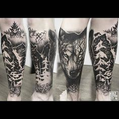 55 Ideas tattoo nature wolf tat for 2019 Top Tattoos, Trendy Tattoos, Body Art Tattoos, Sleeve Tattoos, Tattoo Arm, Tatoos, Wolf Tattoo Design, Tattoo Designs, Kurt Tattoo