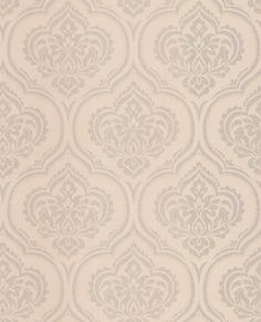 Glitter Damask Cream wallpaper by Albany