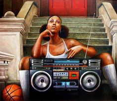 Hiphop/old school/boom box art