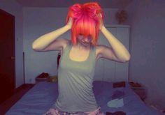 Pink. Orange. Hair. Scene.