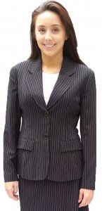 Pinstripe Suit Jacket has matching skirt #business #workclothes #officewear #office