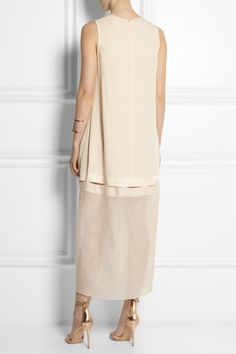 Stella McCartney | Jordan crepe and silk-organza dress | NET-A-PORTER.COM