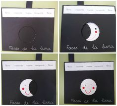 FASES DE LA LUNA, MANUALIDAD. Stem Science, Science Experiments Kids, Science For Kids, Social Science, Science Projects, School Projects, Art For Kids, Galaxy Projects, Moon Projects