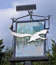 The Swan Inn Pub Sign  at Lt Waldingfield Suffolk