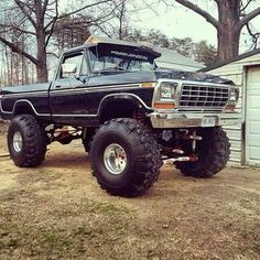 Old truck lifted sexy 53 ideas 1979 Ford Truck, Old Ford Trucks, Old Pickup Trucks, 4x4 Trucks, Custom Trucks, Cool Trucks, Jeep 4x4, Jeep Truck, Ford 4x4