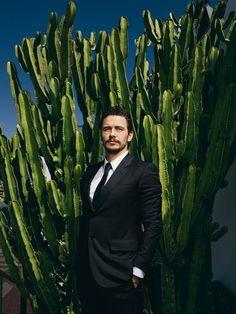 James Franco & cactus