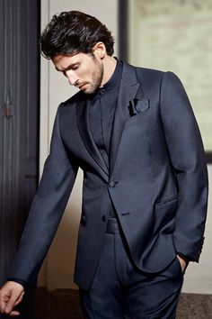 Armani Collezioni - The all midnight blue colors in this suit are genius!!!