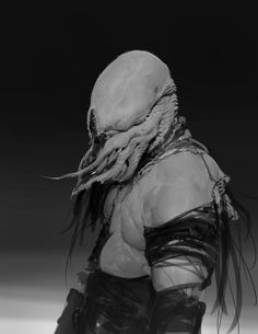 Anthony Jones is a concept artist and illustrator working in the film and video game industry. Aliens, Dark Creatures, Fantasy Creatures, Creature Feature, Creature Design, Character Design Animation, Character Art, Dark Fantasy, Fantasy Art