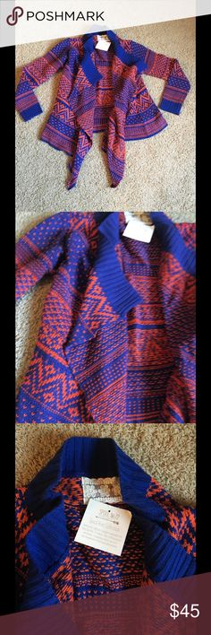 Never worn Spool72 blue and rust colored sweater! Never worn sweater from Spool72. The size is S/M. Rust and blue color. Spool 72 Sweaters Cardigans