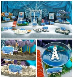 Olaf Buffet Table  http://www.partyworx.co.uk/1/post/2014/07/olaf-themed-party-disney-frozen.html